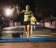 Lewis Kent finishes the FloTrack Beer Mile on Dec. 2, 2015, in Austin, Tx.