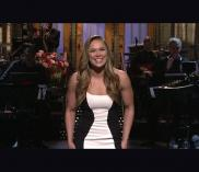 "Ronda Rousey appears on ""Saturday Night Live"" on January 23."
