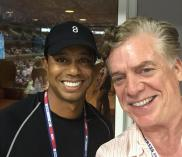 "Tiger Woods and Christopher ""Shooter McGavin"" McDonald take a selfie at the U.S. Open"