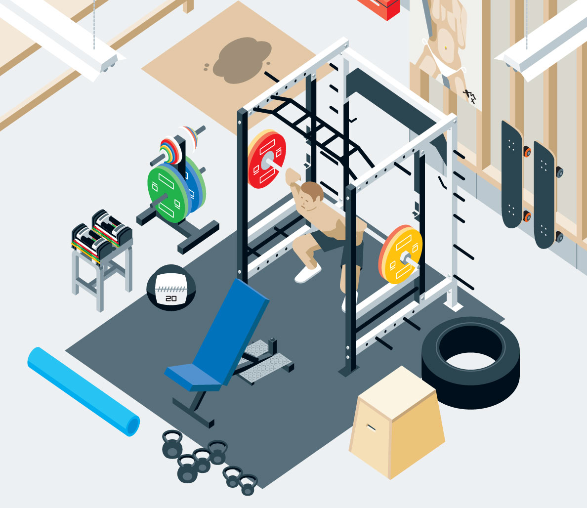 garage workout room ideas - Home Gym Products 2015