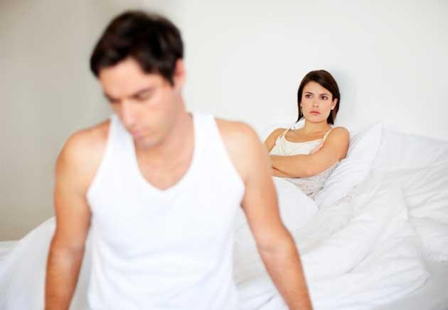 man and woman in bed after one night stand